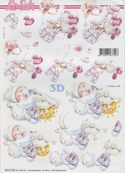 Lesuh 3d-kuvat nukkuvat vauvat