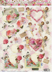 Studiolight 3d-kuvat vintage enkelit, sydämet