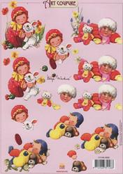 Art coupure 3d-kuvat lapset ja eläimet