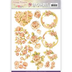 Jeanine´s Art stanssatut 3d-kuvat Vintage Flowers 237