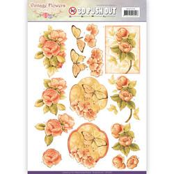Jeanine´s Art stanssatut 3d-kuvat Vintage Flowers 239