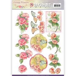 Jeanine´s Art stanssatut 3d-kuvat Vintage Flowers 238