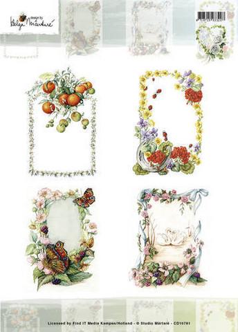 Korttikuvat Martare kuvat kukkakehyksissä