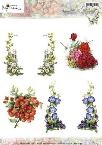 Korttikuvat Martare hienoja kukkia mm. köynnöksiä