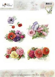 Korttikuvat Martare kukkia mm. anemonet