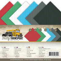 Tekstuuri korttikartongit Amy Design Daily Transport 13,5x27