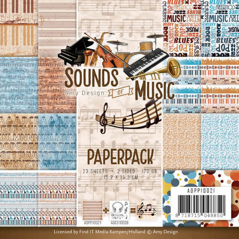 Amy Design paperipakkaus Sounds of music 6x6