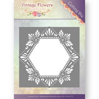Jeanine´s Art stanssi Vintage Flower Floral Hexagon