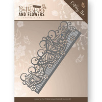 Jeanine´s Art stanssi Classic Butterflies and Flowers Butterfly Border