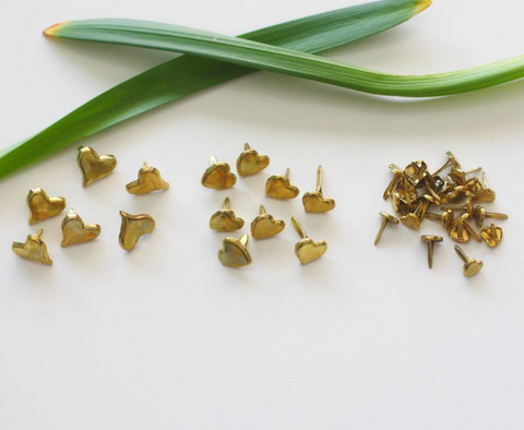 Sydänhaaraniitit kulta mix 38kpl