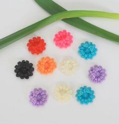 Resiini kukat ja perhonen värimix 10kpl16mm