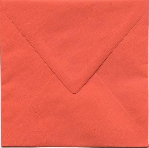 Neliökirjekuoret oranssi eläväpintainen 14x14cm 10kpl