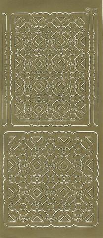 Ääriviivatarrat ornamenttitaustat kulta
