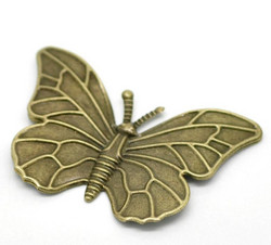 Filigree perhoset 60x40mm pronssinväri 5kpl