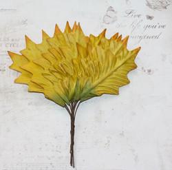 Koristelehdet nipussa tammi kelta-vihreä 12kpl