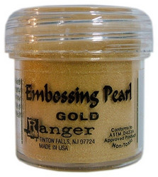 Ranger kohojauhe helmiäiskulta Embossing Pearl Gold
