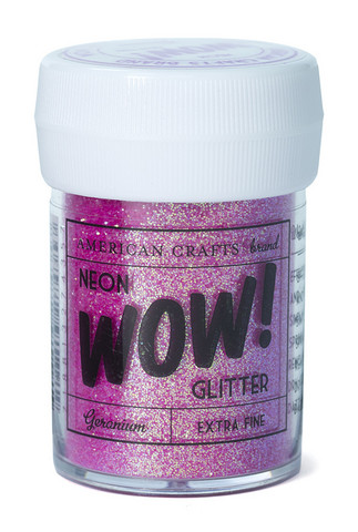 American Crafts WoW Neon Glitter geranium kimallejauhe