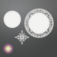 Couture Creations stanssit North star doily set