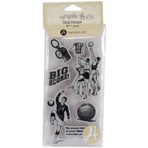 Graphic45 leimasimet koripallo, jalkapallo ic0300
