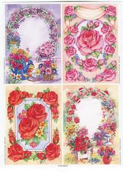 Le Suh korttikuvat kukkakaaret ja ruusuja