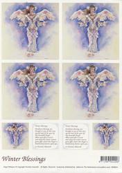 Enkelikorttikuvat Winter Blessings a4
