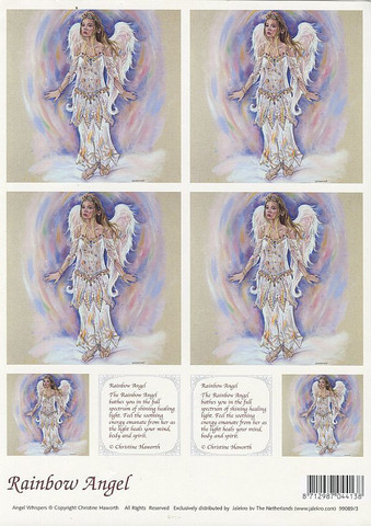 Enkelikorttikuvat Rainbow angel a4