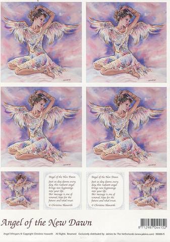 Enkelikorttikuvat Angel of the new dawn a4