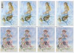 Korttikuvat merenneito ja merikeijut a4
