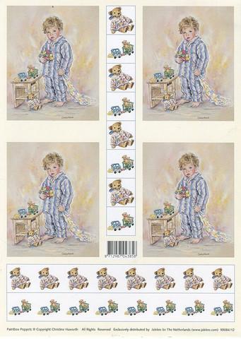 Korttikuvat poika pyjamassa a4