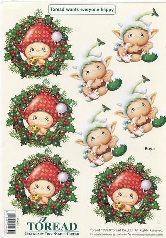 Korttikuvat joulu Toread-peikot Poya a4