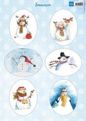 Marianne design korttikuvat Snowmen vk9568 a4