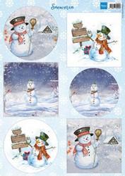Marianne design korttikuvat Snowmen vk9569 a4