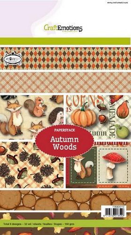 CraftEmotions paperikko Autumn Woods a5