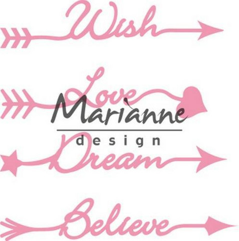 Marianne Design Collectables arrow sentiments stanssit