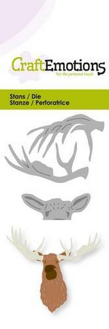 CraftEmotions stanssit head moose 3D