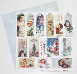 Reprint paperi Christmas Time Tags 12x12