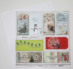 Reprint paperi Christmas now and then Jultags 12x12