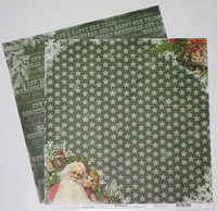 Reprint paperi Home for christmas Santa 12x12
