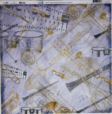 Sugar Tree paperi sininen soittimia s205 12x12
