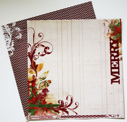 MME paperi Vintage Christmas Merry 12x12
