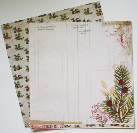 MME paperi Vintage Christmas Holly 12x12
