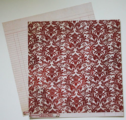 MME paperi Vintage Christmas Red Damask 12x12