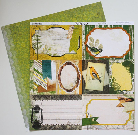 Bo Bunny paperi Trail mix Woodland Picnic 12x12