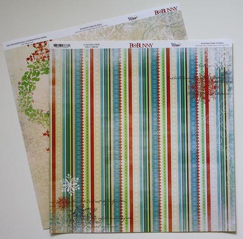 Bo Bunny paperi Blitzen Stripe 12x12
