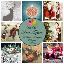 Dixi Craft korttikuvat joulukuvia et0210