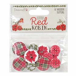 Dovecraft puunapit Little Red Robin 16kpl