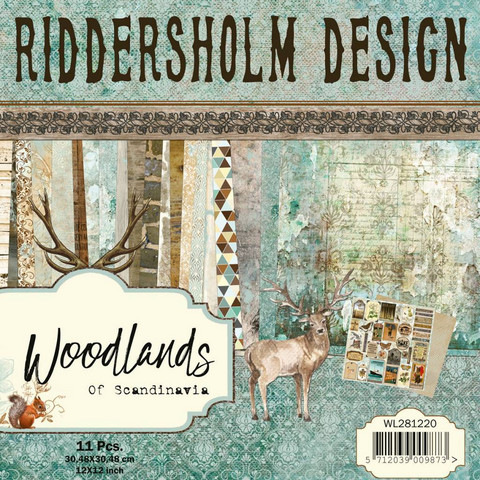 Riddersholm Design paperikko Woodlands of Scandinavia 12x12