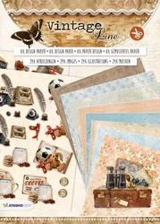 Studiolight stanssattu korttikirjanen Vintage Line a4