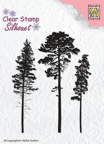 Nellie Choice leimasetti 3 Pinetrees SIL037