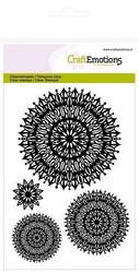 CraftEmotions leimasetti A6 mandala flower